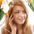 Spring portrait of young attractive girl — Stock Photo