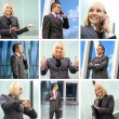 Collage made of some business pictures — Foto de Stock