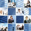 Collage of different business images - Foto Stock