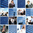 Collage of different business images — Stock fotografie