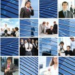 Collage of different business images — ストック写真