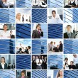 Collage of different business images — 图库照片