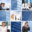 Collage of different business images — Stock Photo