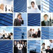 Collage of different business images — Stockfoto