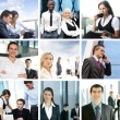 Foto Stock: Business collage made of some pictures
