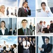 Business collage made of some pictures — Foto Stock