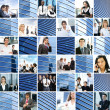 Business collage av några bilder — Stockfoto