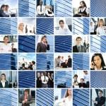 zakelijke collage gemaakt van enkele foto 's — Stockfoto