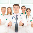 Team of young and smart medical workers — Stockfoto
