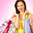 Attractive womdoing shopping — Stock Photo #15877339