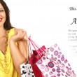Attractive woman doing shopping — Stock Photo #15877387