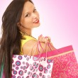 Attractive female shopper — Stock Photo