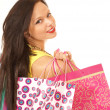 Attractive female shopper — Stock Photo #15877425