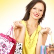 Attractive woman doing shopping — Stock Photo