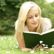 Young beautiful girl reading — Stock Photo #15878441