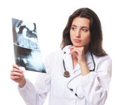 Young and attractive doctor — Stock Photo