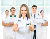 Team of young and smart medical workers — Stock Photo