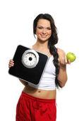 Portrait d'une femme jeune et en bonne santée en un régime concept — Photo