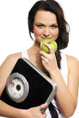 Portrait of young and healthy woman as dieting concept — Stock Photo