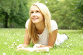 Young attractive blond — Stock Photo