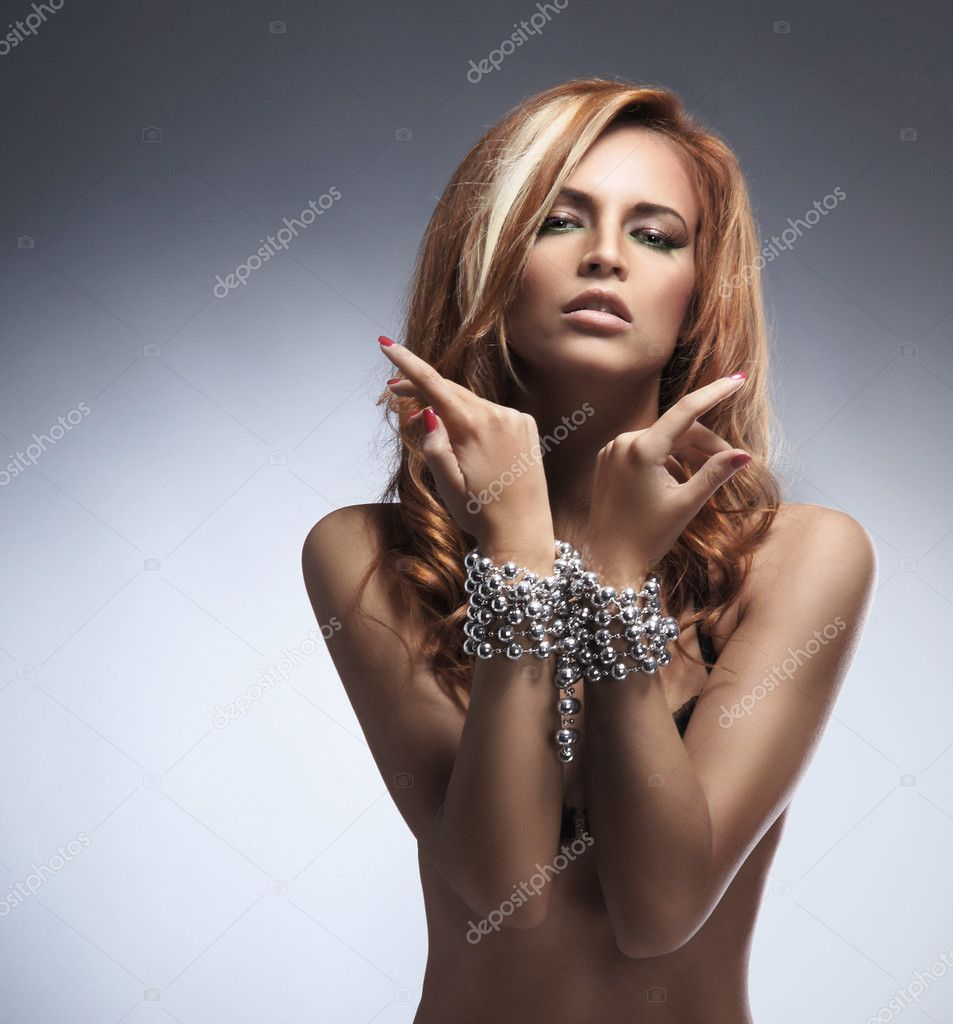 Fashion shoot of young sexy woman   Stock Photo #15870329