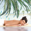 Attractive woman getting spa treatment — Lizenzfreies Foto