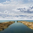 Ancient harbor over — Stock Photo