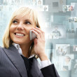 Young sexy business woman — Stock Photo