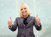 Attractive young business woman — Stock Photo
