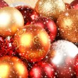 Stock Photo: Christmas background with the balls and snowflakes