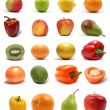 Set of fruits — Stockfoto