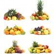 Stock Photo: Fruits isolated on white