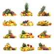 Fruits isolated on white — Stock Photo