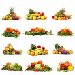 Vegetables isolated on white — Stok fotoğraf