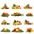 Stock fotografie: Vegetables isolated on white