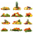Vegetables isolated on white — Stok fotoğraf #16022095