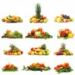 Vegetables isolated on white — Stock Photo #16022095