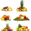 Foto Stock: Vegetables isolated on white