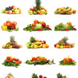 Vegetables isolated on white — ストック写真
