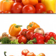 Fresh tasty vegetable textures isolated on white — Stock Photo