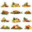Vegetables isolated on white — Stok fotoğraf #16022511