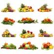 蔬菜上白色隔离 — 图库照片