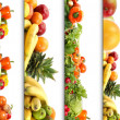 5 nutrition textures - Stock Photo
