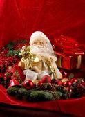 Fundo de natal com boneco de papai noel — Fotografia Stock