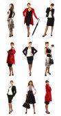 9 different poses — Stock Photo