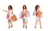 魅力的な女性は買い物をしています。 — ストック写真