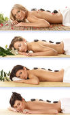 Attractive women getting spa treatment — Stock Photo