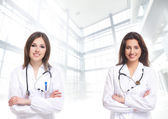Young and attractive doctor s — Stock Photo