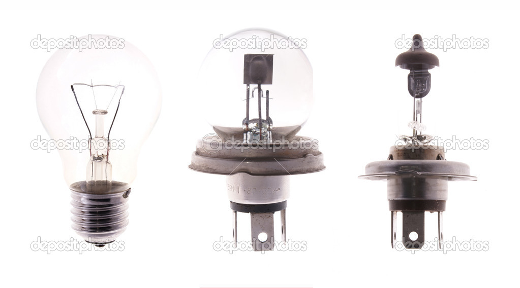Transparent bulb lamps isolated on white background                     — Stock Photo #16021525