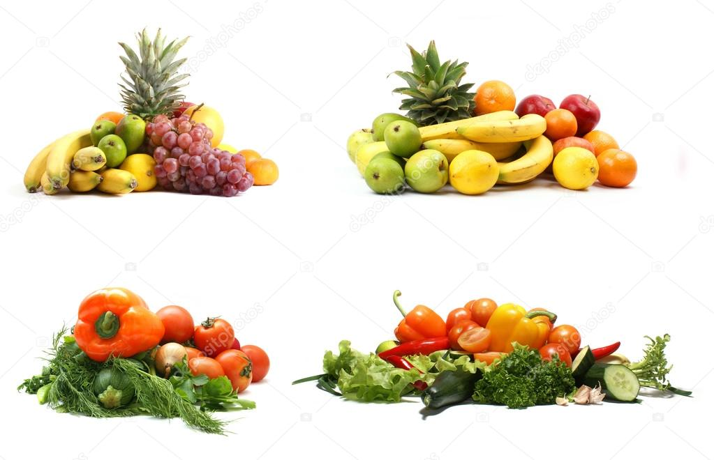 Vegetables isolated on white           — Stock Photo #16022091